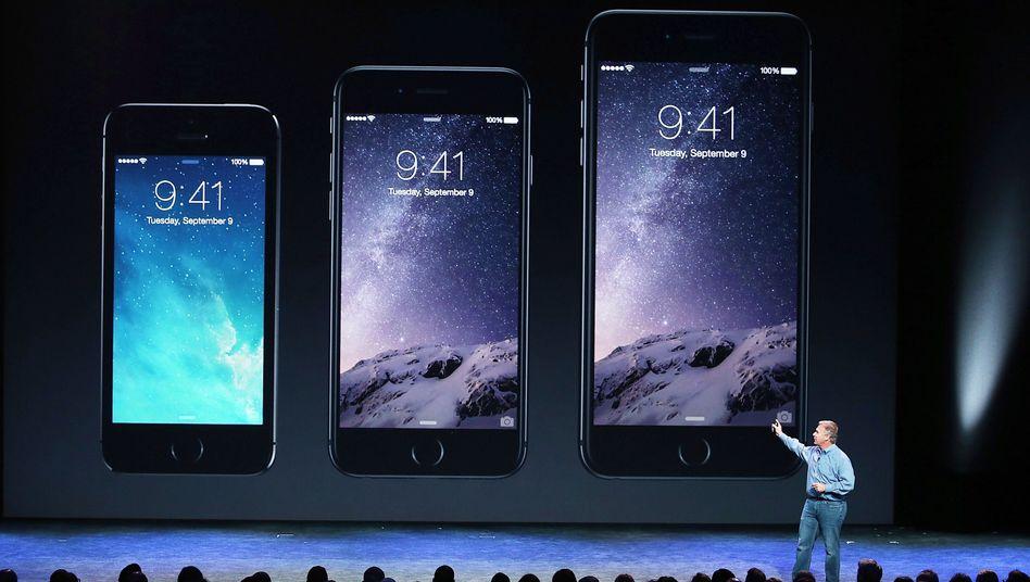 Vorstellung des iPhone 6 im Jahr 2014: Im Netz sucht das Smartphone mit Google