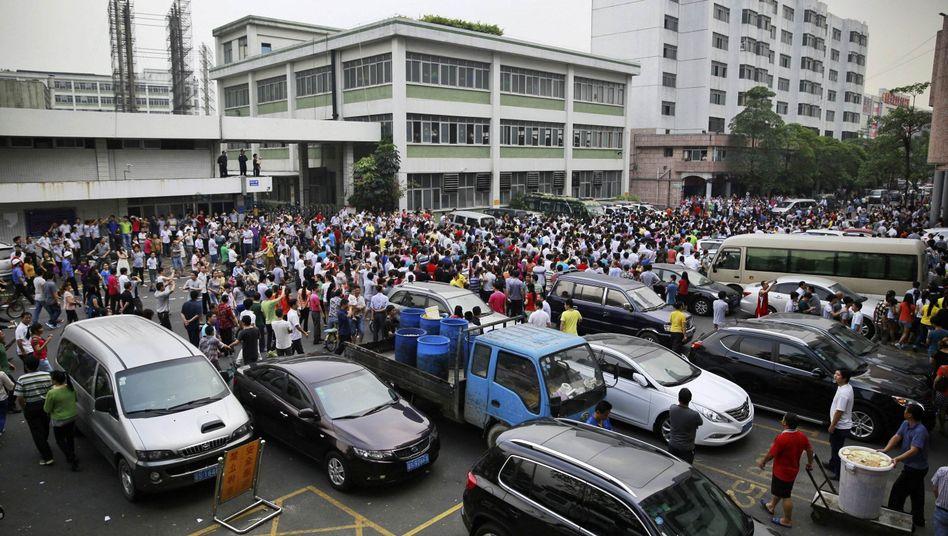 Streik in der Stadt Dongguan am 18. April: Kampf für Sozialleistungen
