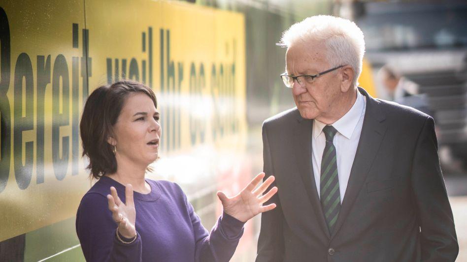 Kandidatin Baerbock, Ministerpräsident Kretschmann