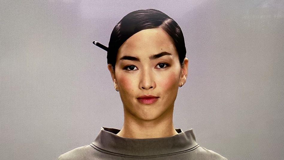 Sieht aus wie eine Schauspielerin, ist aber das Konstrukt eines Computers: eine der Figuren aus dem Projekt Neon