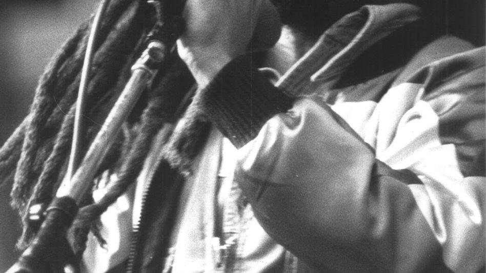 Bob Marley bei einem Konzert in München (1980)