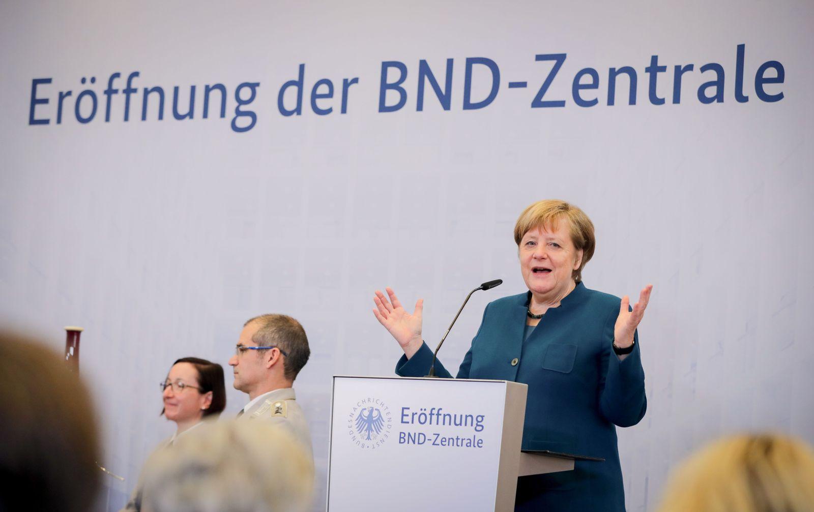 Angela Merkel BND-Zentrale
