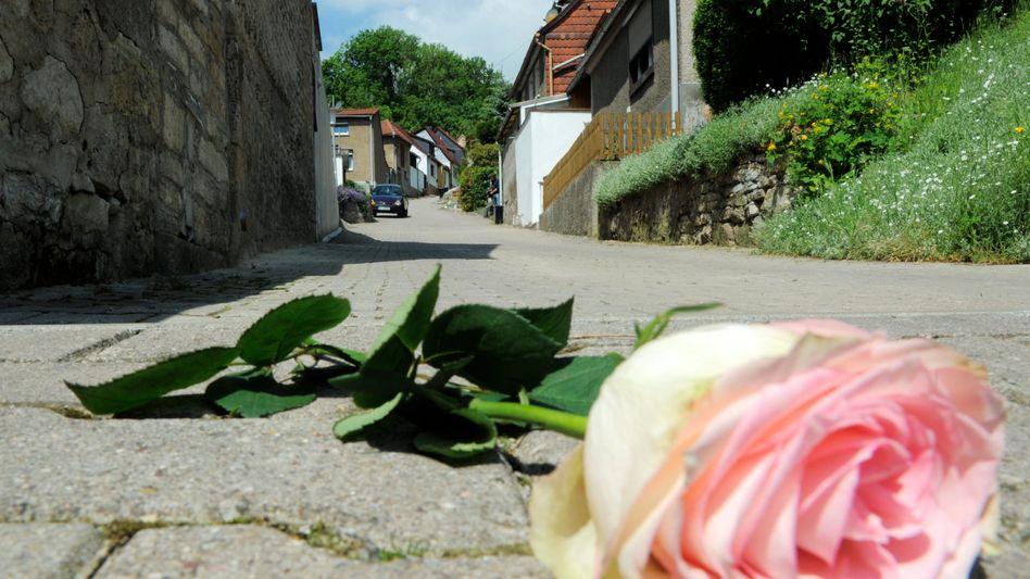 Gedenken an das Opfer: In Thüringen haben vier Terrier ein kleines Mädchen totgebissen