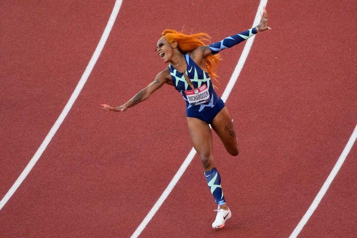 Die sechstschnellste Frau der Welt feiert ihre Olympiaqualifikation