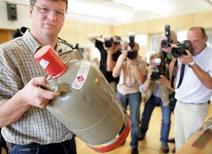 Bombenfund in Dortmund: Gasflasche in einem Koffer versteckt