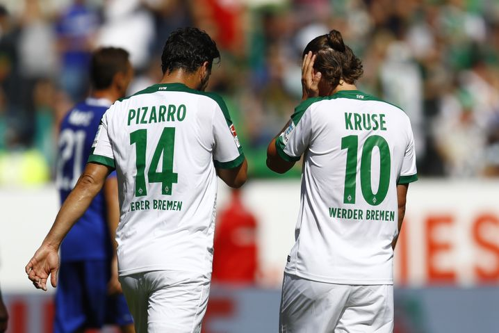 Werder-Stürmer Claudio Pizarro, Max Kruse