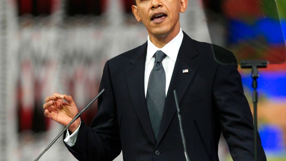 US President Barack Obama speaks after receiving the 2009 Nobel Peace Prize in Oslo City Hall on Thursday.