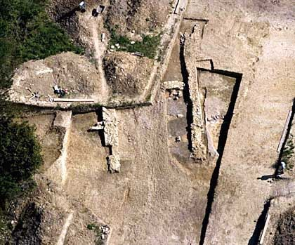 Keltisches Tor: 2500 Jahre alte Balken