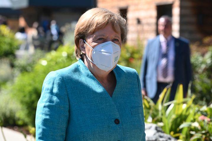 Angela Merkel beim G7-Gipfel in Cornwall: Die Industriestaaten haben sich auf das Spenden von Impfstoffdosen verständig