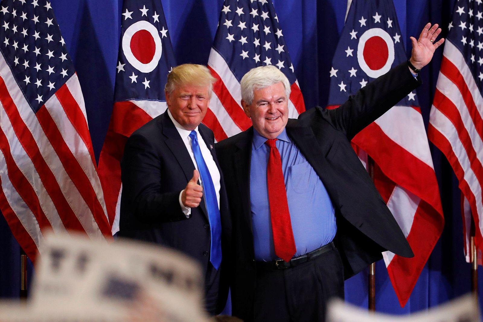 STARTBILD Trump und Newt Gingrich