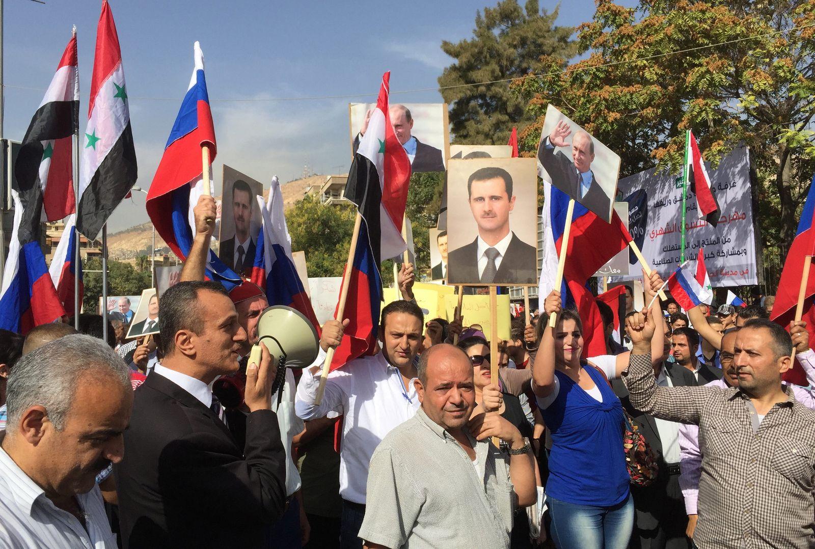 Syrien/ Damaskus/ Demonstration/ pro-russisch