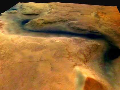 Flussbett auf dem Mars: Leben auf rotem Planeten bisher nicht nachgewiesen