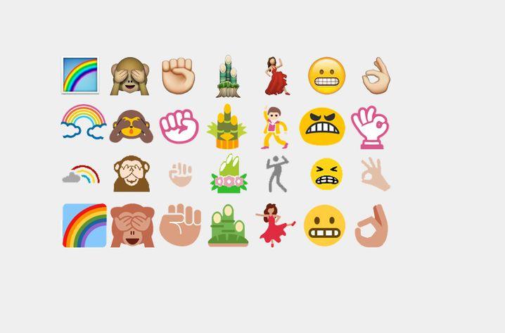 Mal so, mal so: Auf verschiedenen Geräten können Emoji unterschiedlich aussehen