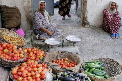 Gemüseverkäuferin in Bagdad: Verbotene Früchte?