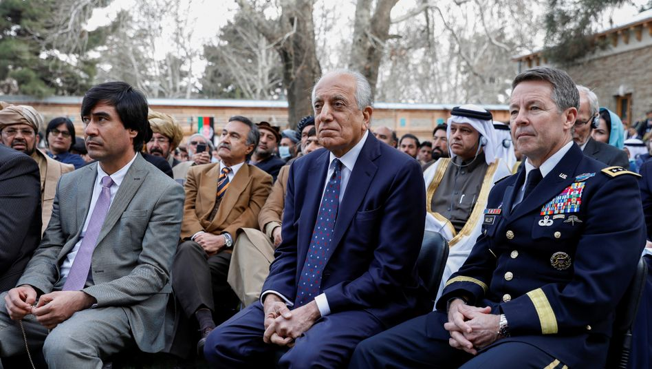 U.S. Special Representative Zalmay Khalilzad on March 9 in Kabul at the inauguration of President Ghani.