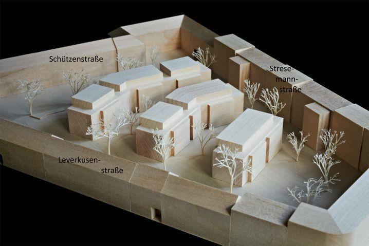 Bauentwurf für Leila Hansens Innenhof