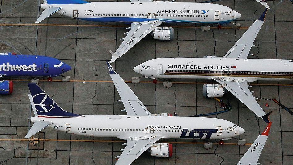 Geparkte 737-Max-Maschinen in Moses Lake, Washington:»Kultur der Verschleierung«
