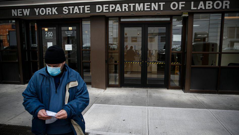 New York: Arbeitsamt geschlossen, wegen Corona