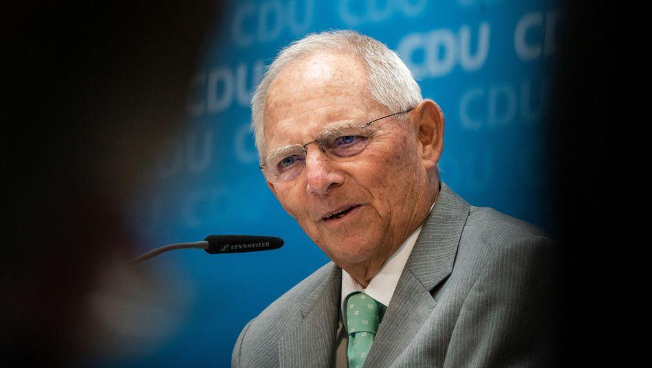 "Wolfgang Schäuble (am Dienstag in Berlin): ""Keine vernünftige Lösung"""