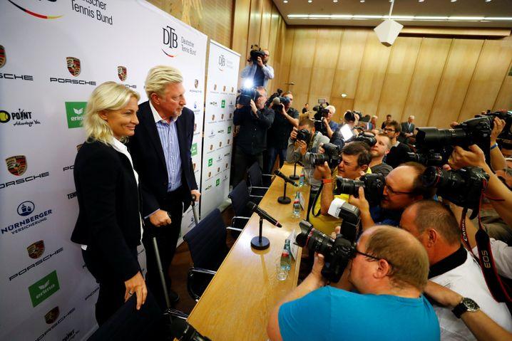 Barbara Rittner (l.), Boris Becker