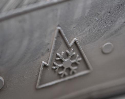 Alpine-Symbol auf Winterreifen