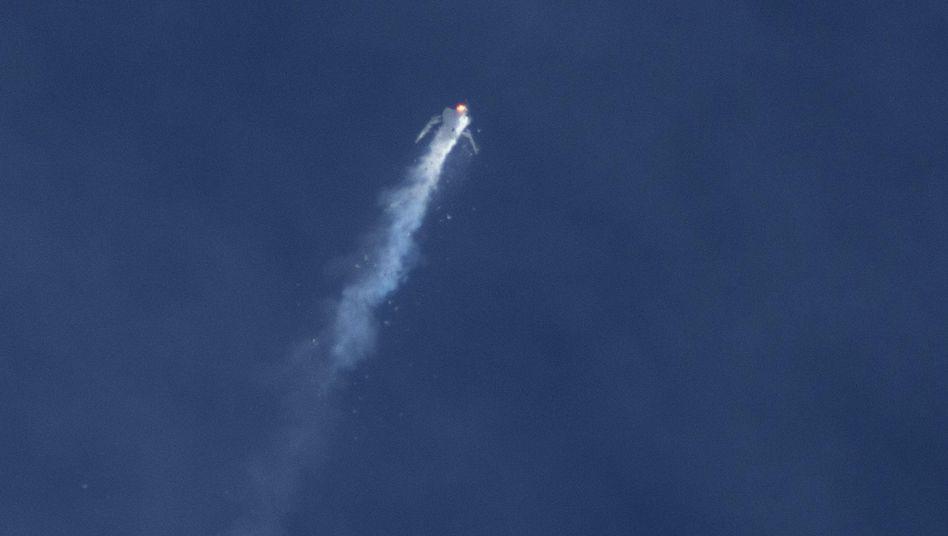 SpaceShipTwo-Katastrophe: Explosion bei der Raketenzündung