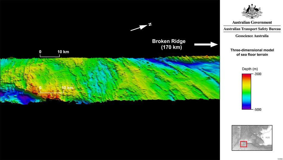 """Seeboden im bisherigen Suchgebiet: """"Wahrscheinlich aus dem östlichen äquatorialen Indischen Ozean"""""""