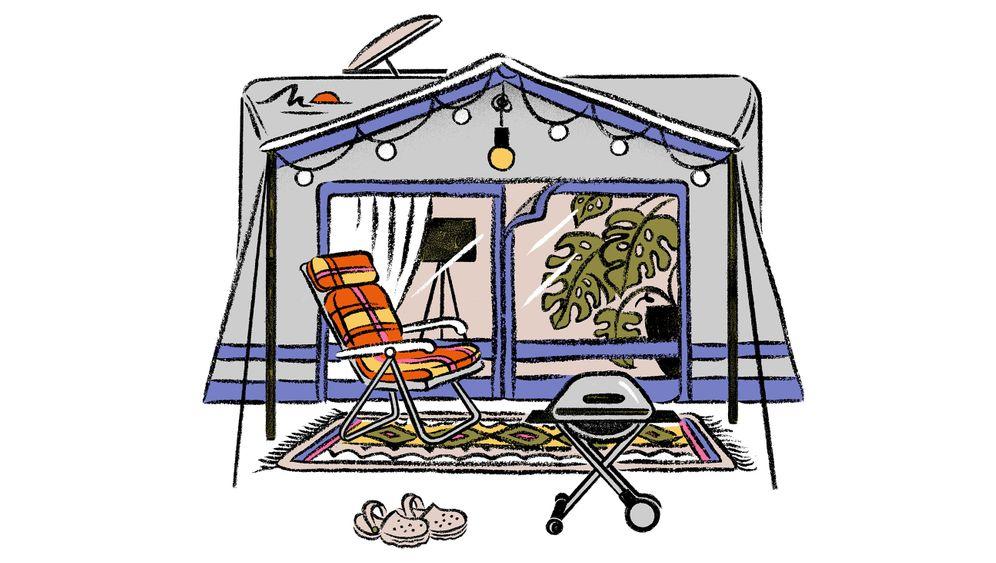 Campingplatz am Doktorsee im Weserbergland