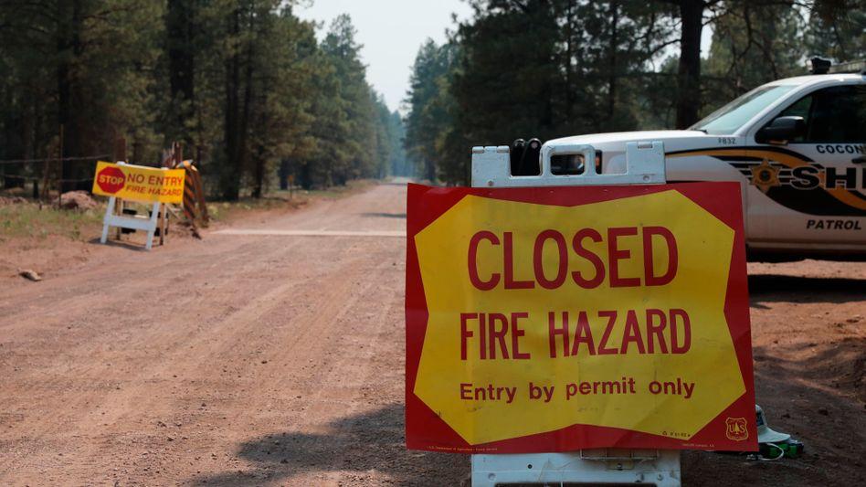 Auch in Arizona warnte die Polizei vor den Waldbrandgefahren
