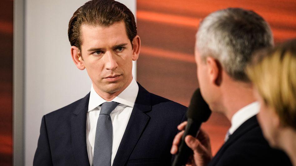 Sebastian Kurz (ÖVP), Wahlsieger in Österreich