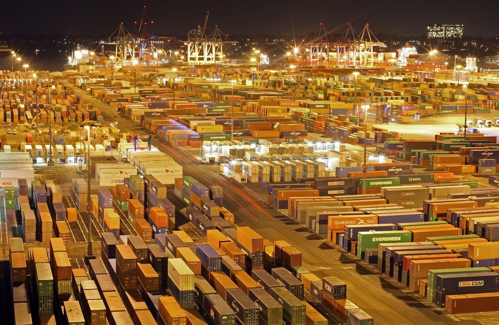 NICHT VERWENDEN Konjunktur / BIP / Container im Hamburger Hafen