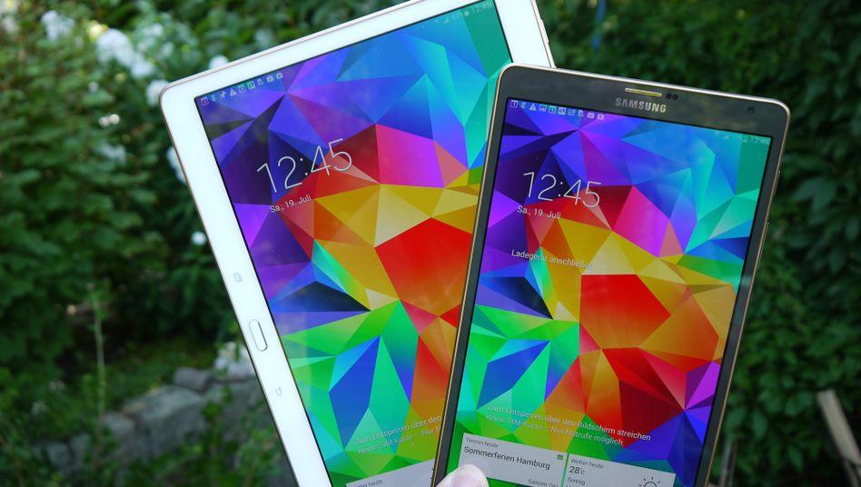 Samsung Galaxy Tab S 10.5 (r.) und S 8.4: Nach 2 Rezensionen bekommen die Tester ein Tablet geschenkt