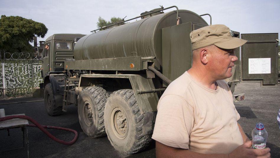Russischer Soldat in Syrien (Archivbild): Was macht Moskau?