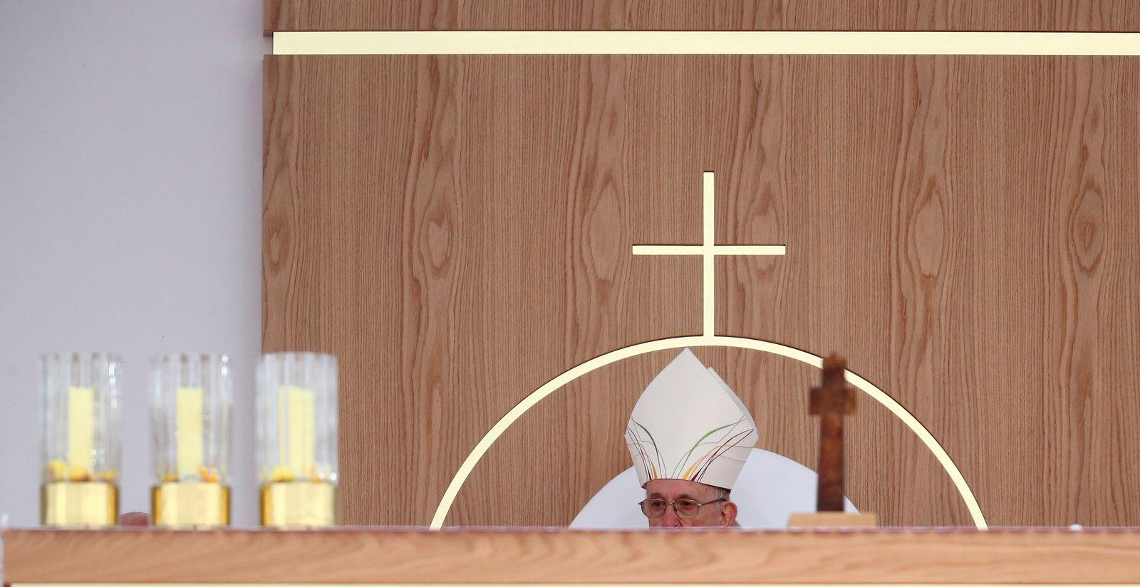 EINMALIGE VERWENDUNG Papst Franziskus