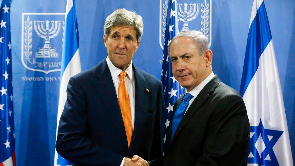 US-Außenminister Kerry, Premier Netanjahu (am 23. Juli): Neue Misstöne