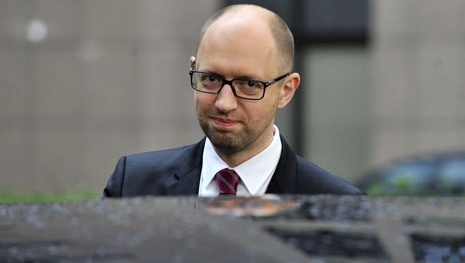 "Ukrainian Prime Minister Arseniy Yatsenyuk: ""Russia is fighting against the West and its values."""