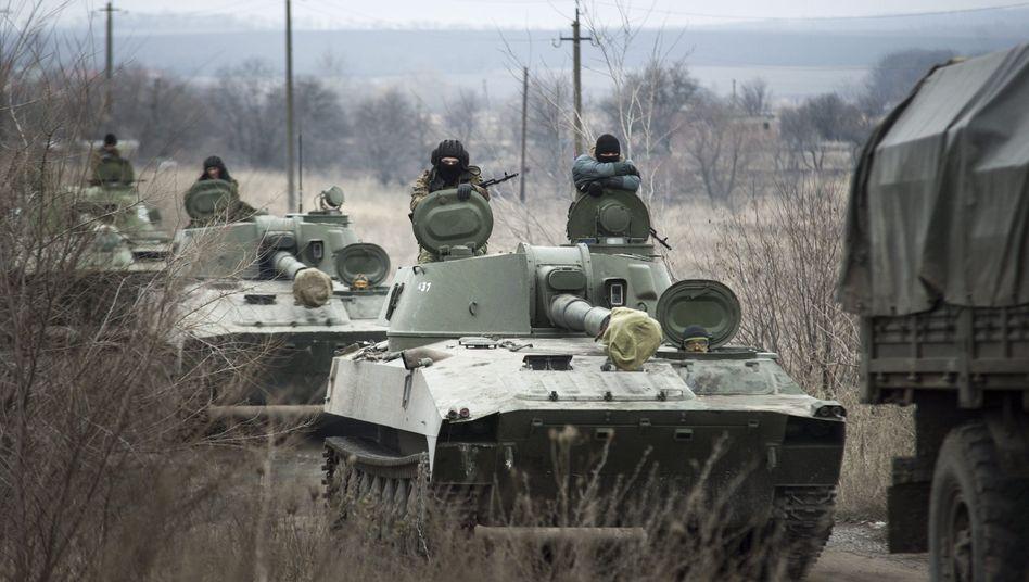 Pro-russische Separatisten in der Ukraine: US-Amerikaner vermuten Unterstützung durch russische Soldaten.