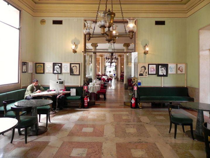 Grüner Salon ím Caffè Pedrocchi