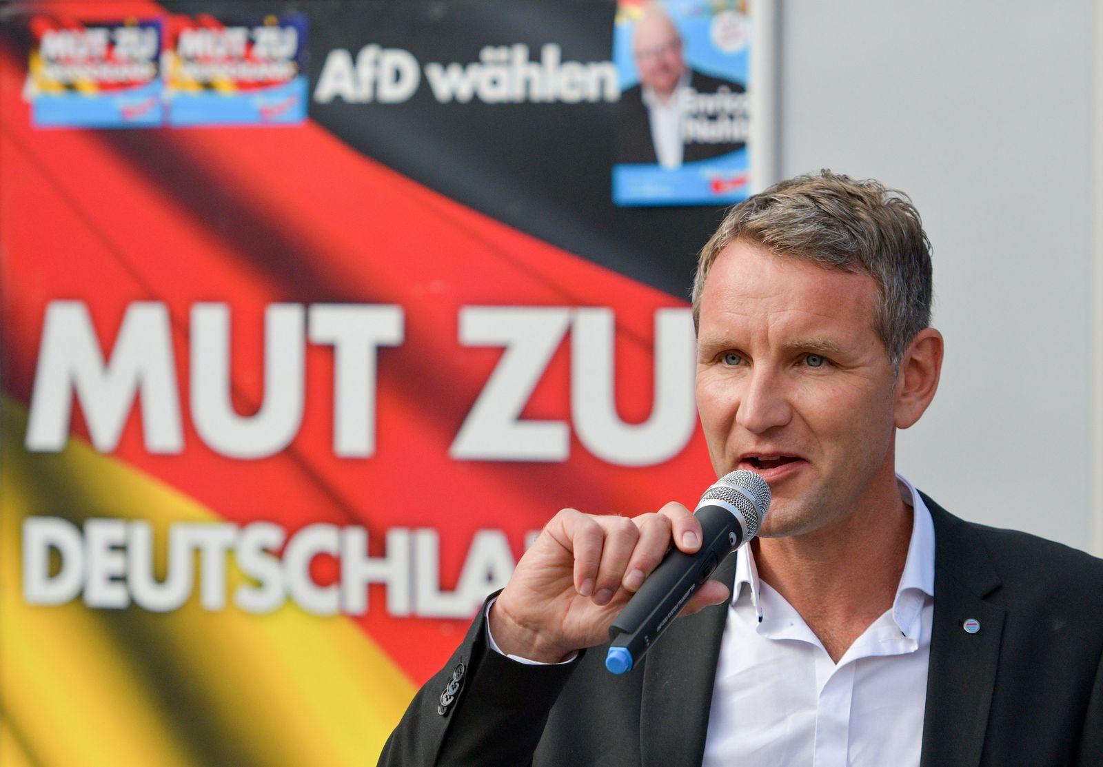 Wahlkampfveranstaltung der AfD in Schwerin