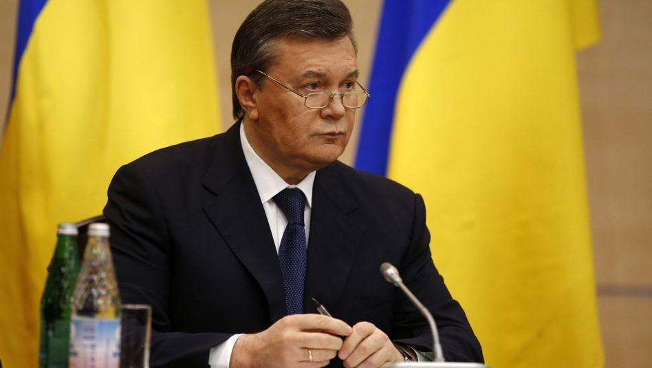 Ukraine-Krise: EU friert Konten von Wiktor Janukowitsch ein