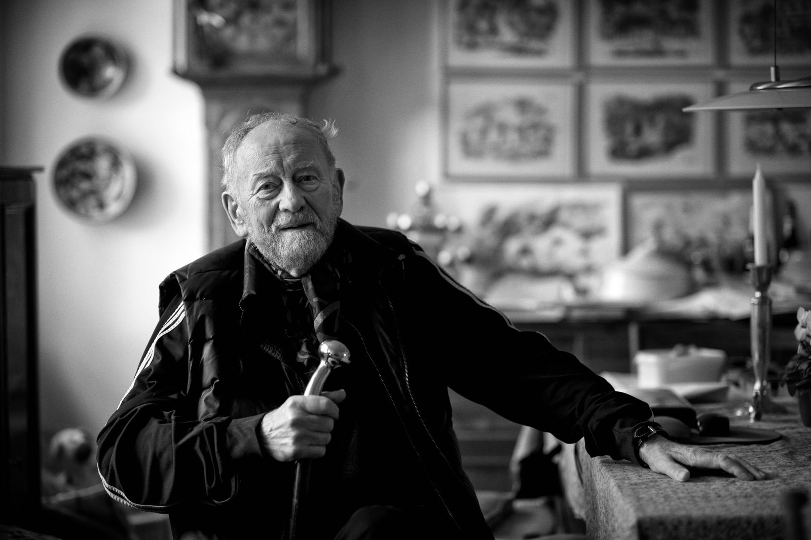 VIBY DENMARK Danish cartoonist Kurt Westergaard poses for the photographer in his house in Viby