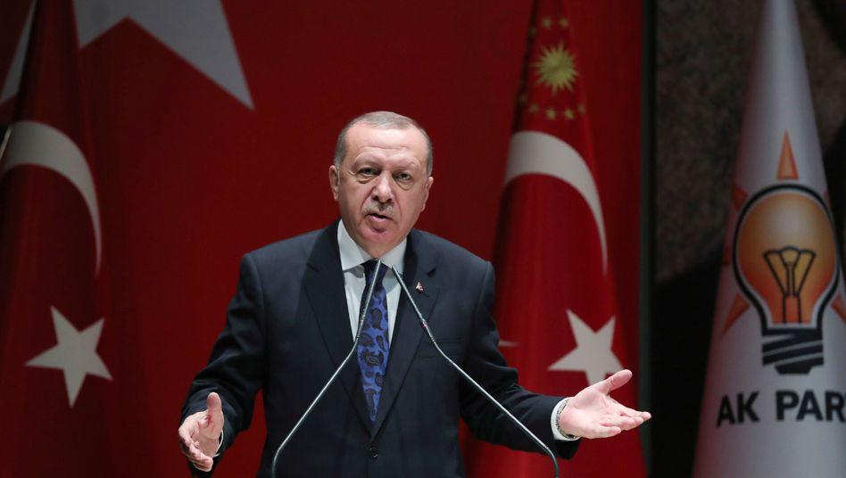 """Türkischer Präsident Erdogan: """"Eine Resolution für die Entsendung von Soldaten"""""""