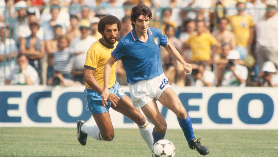 Paolo Rossi im WM-Spiel gegen Brasilien in Barcelona 1982