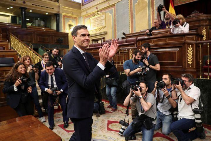 Pedro Sánchez im Parlament