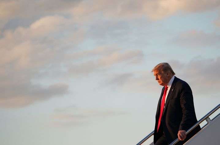 US-Präsident Trump kehrt nach dem SpaceX-Start in Cape Canaveral nach Washington zurück