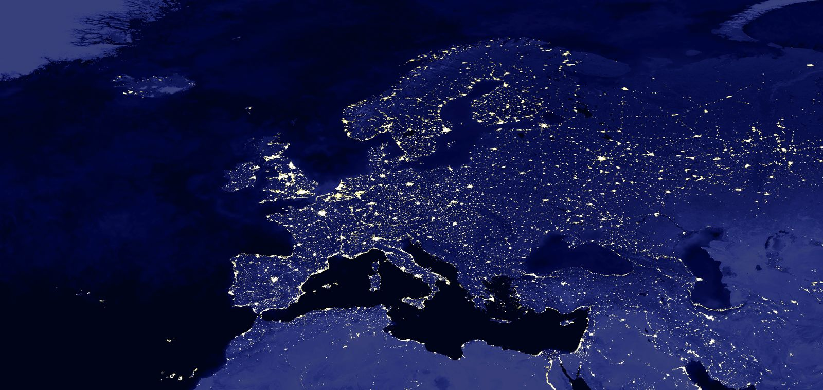 Europa / Satellitenbild