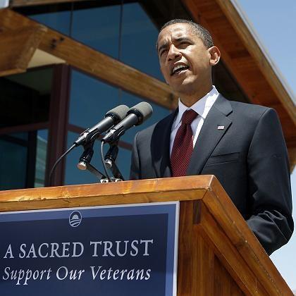 Obama bei seinem Auftritt vor Veteranen: Probleme mit der persönlichen Anekdote