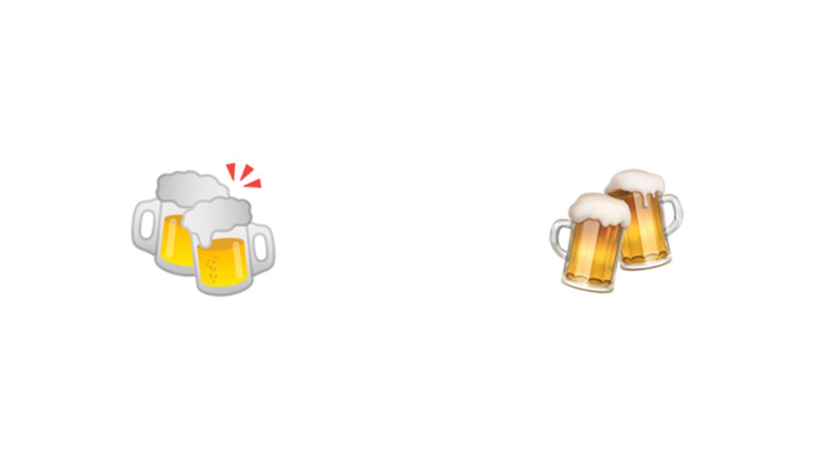 EINMALIGE VERWENDUNG Emojis im Vergleich