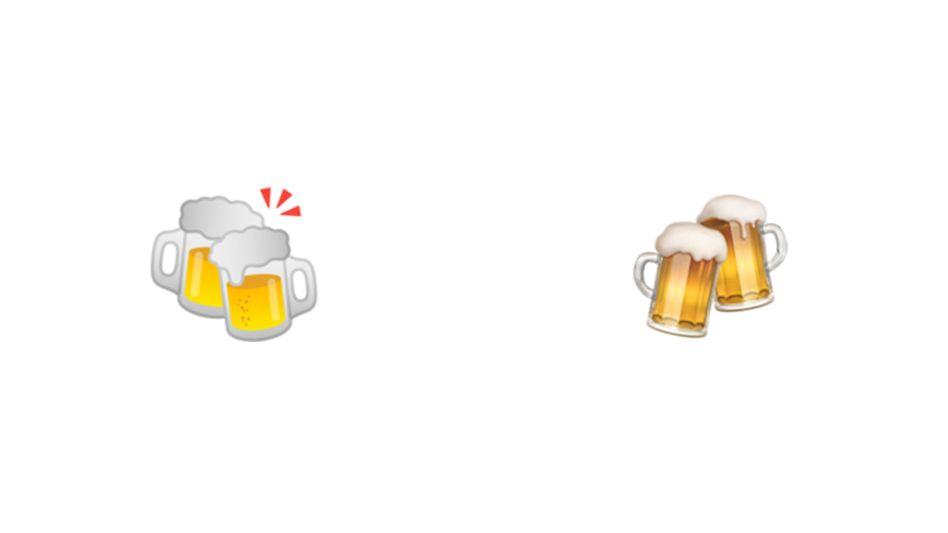 Bier-Emoji von Google und Apple: Am Textende können Sie für Ihren Favoriten abstimmen