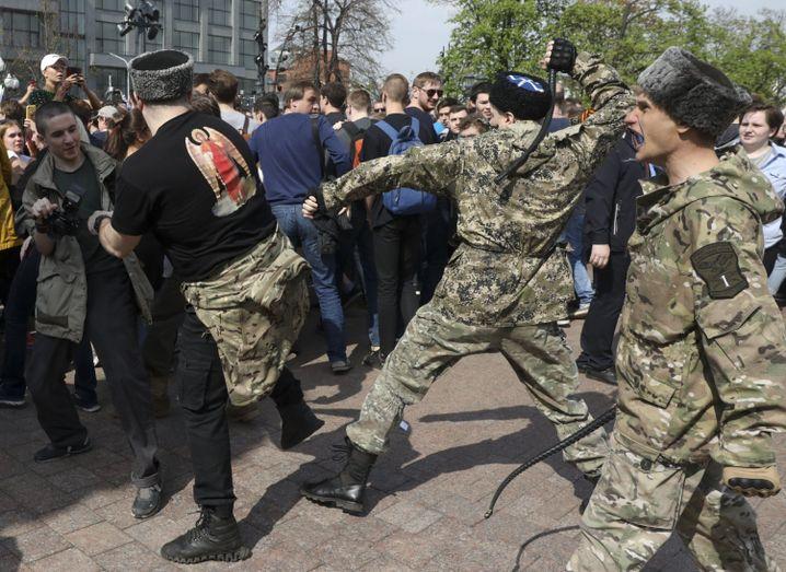 Kosaken im Mai 2018 in Moskau